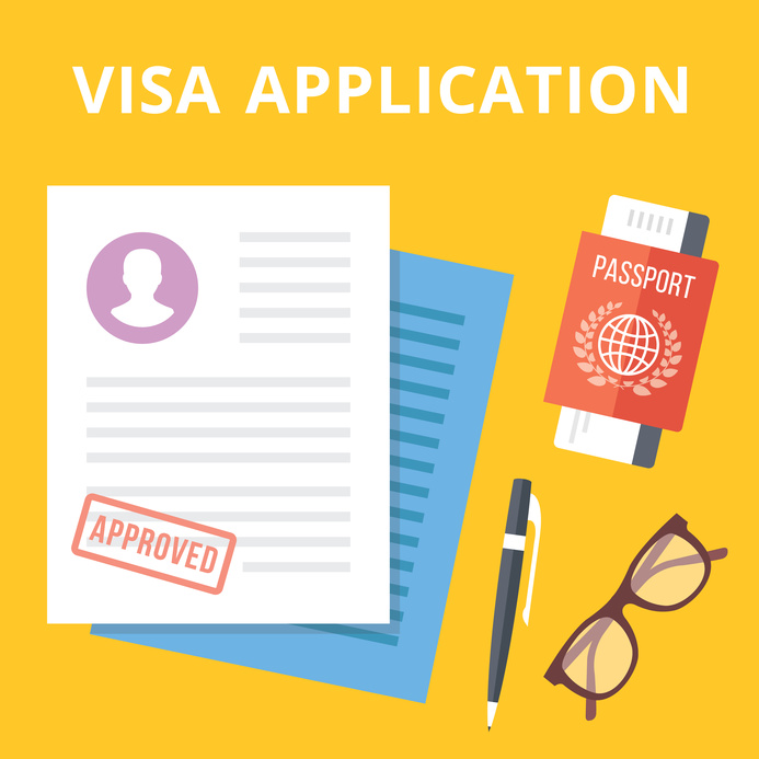 Visa application forms