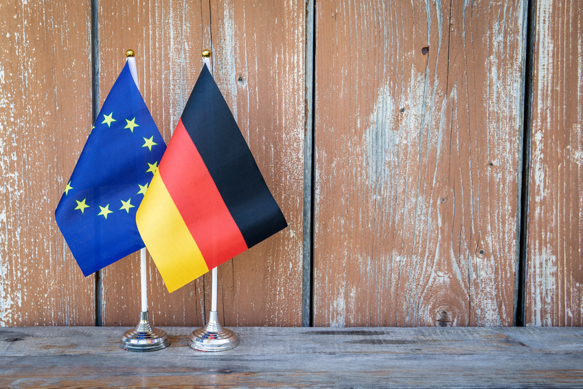 German and European Flags
