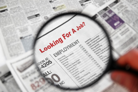 Publishing job offer in a newspaper