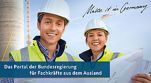 Fachkräfte & Logo Make it in Germany